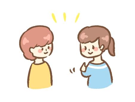 Talk in sign language