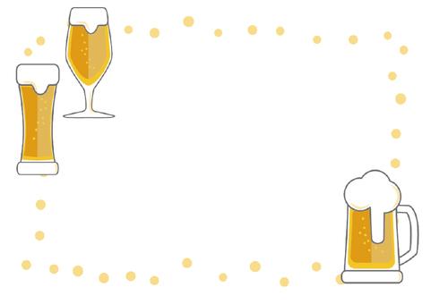 Beer illustration frame