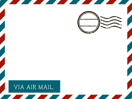 Card element * Air mail style design