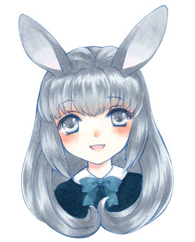 Rabbit ears girl