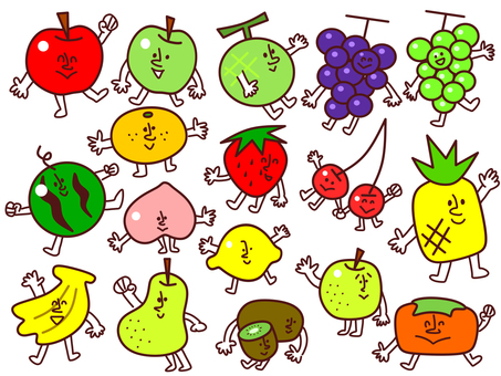Various facial fruits