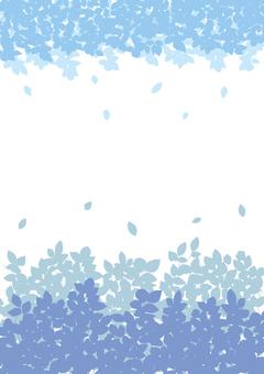 Plant silhouette blue