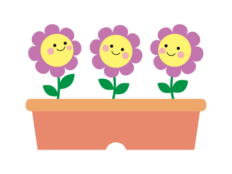 Purple flower illustration