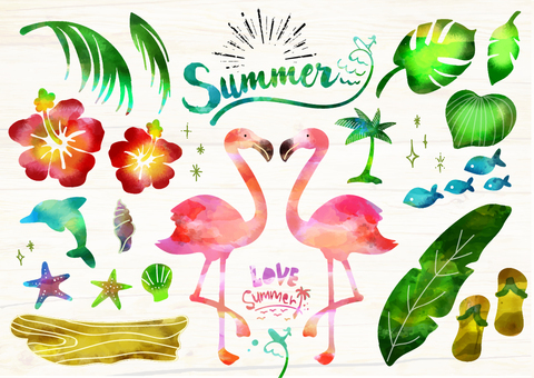 58 Tropical Illustration that may be used in summer