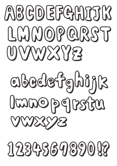 Shaded alphabet