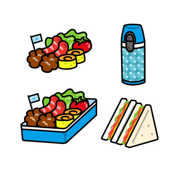Illustration material for lunch box C