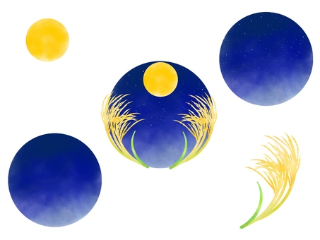 Full moon night and susukino set