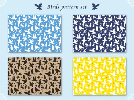 Silhouette pattern of birds
