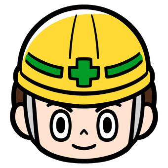 Workers Guidance for construction, etc. Helmet wearing