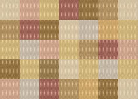 Wallpaper - Patchwork - Brown