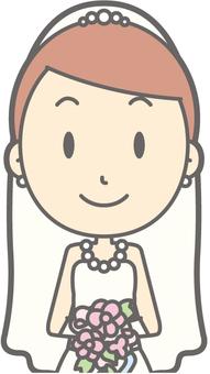 Bride dress - front 2 - bust