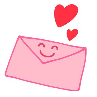 Smiling heart letter