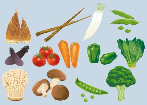 Various vegetable ingredients