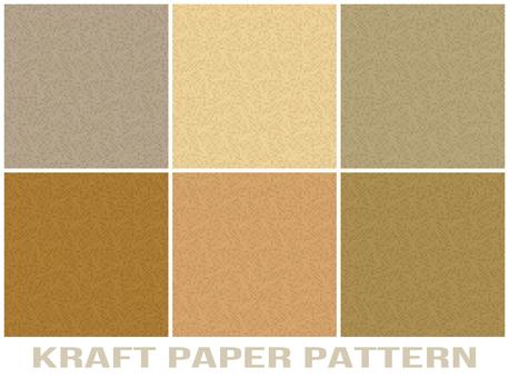 Kraft paper style pattern