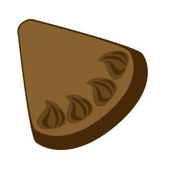 1 chocolate cake cut