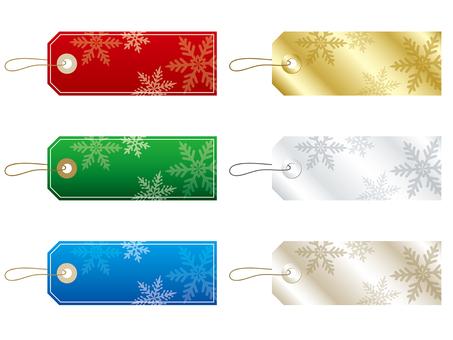 クリスマスカラーのタグフレームセット