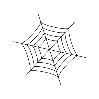 Halloween illustration (web of spider)
