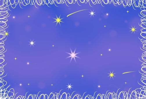 Illustration of the night sky