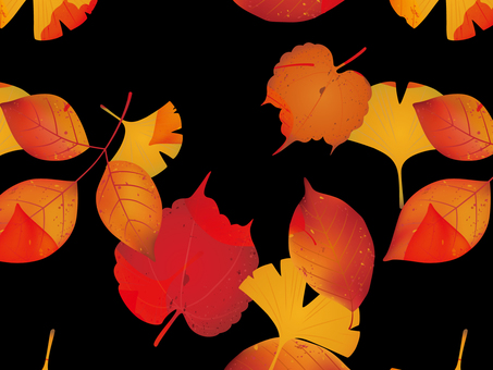 Autumn leaves background material <Black>