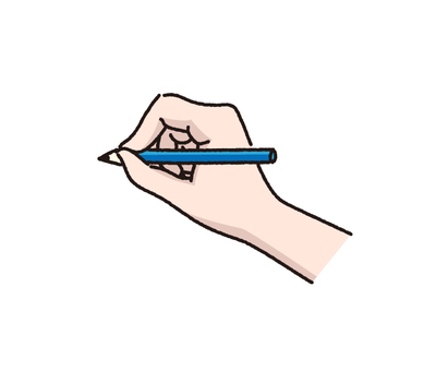 Hand with pen (color)
