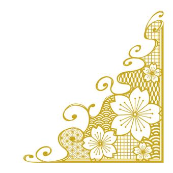 Japon desen kiraz çerçeve _ parçalar _ altın