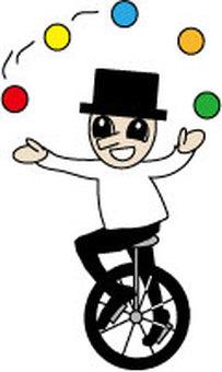 juggling unicycle