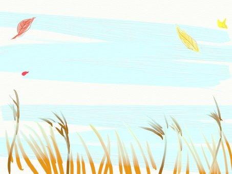 Watercolor Wind Fall in the Field