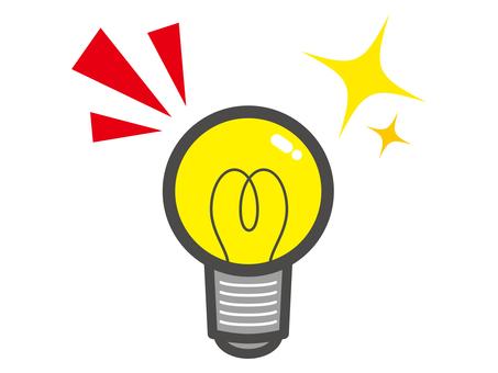 Light bulb _idea_ small material