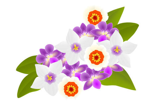 Japanese style flower motif