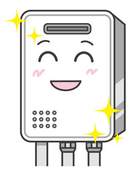 Water heaters with expression (smile)