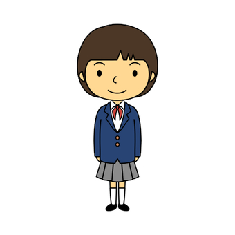 Elementary school uniform girl 3