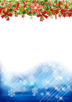 Christmas wreath & snow 36