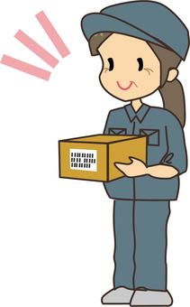 Senior female delivery staff