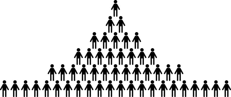 人のピラミッド 組織 ヒエラルキー
