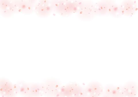 Cherry blossom petal frame