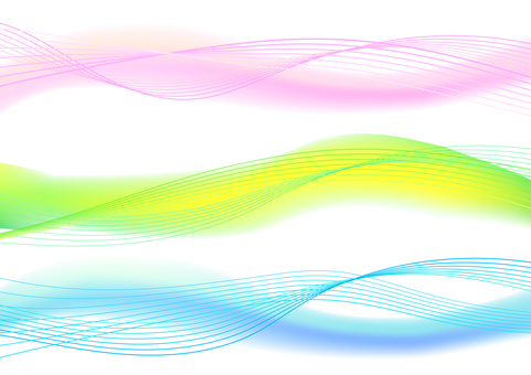 Colorful abstract wavy line background material set