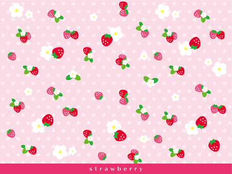 Strawberry pattern background · wallpaper