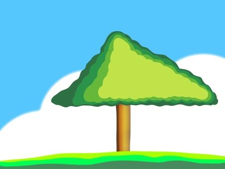New green big tree