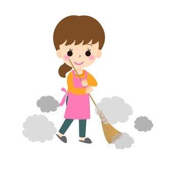 Sweeping women