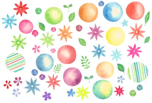 Watercolor colorful