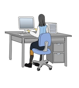 Female employees who do desk work