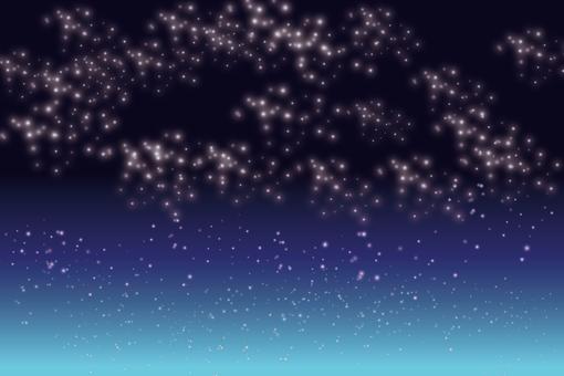 A quiet night sky