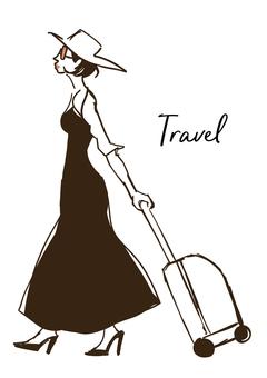 女子旅イラスト