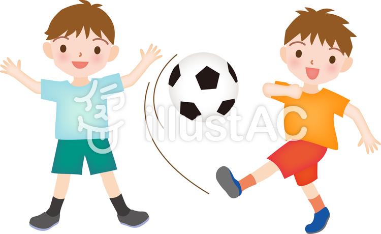 かわいいサッカー少年イラスト No 1081956無料イラストなら