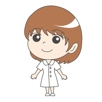 Nurse A: White coat: Cute