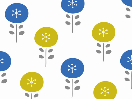 Nordic floral simple wallpaper pattern 74