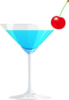 Cocktail _ light blue _ cherry