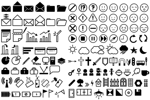 Assortment of icons