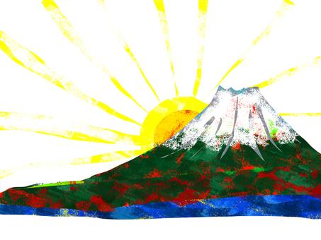 First sunrise Mt. Fuji