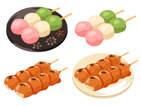 Dishes _ Japanese confectionery _ No _ _ Dango _ line